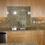 Kitchen sink with backsplash