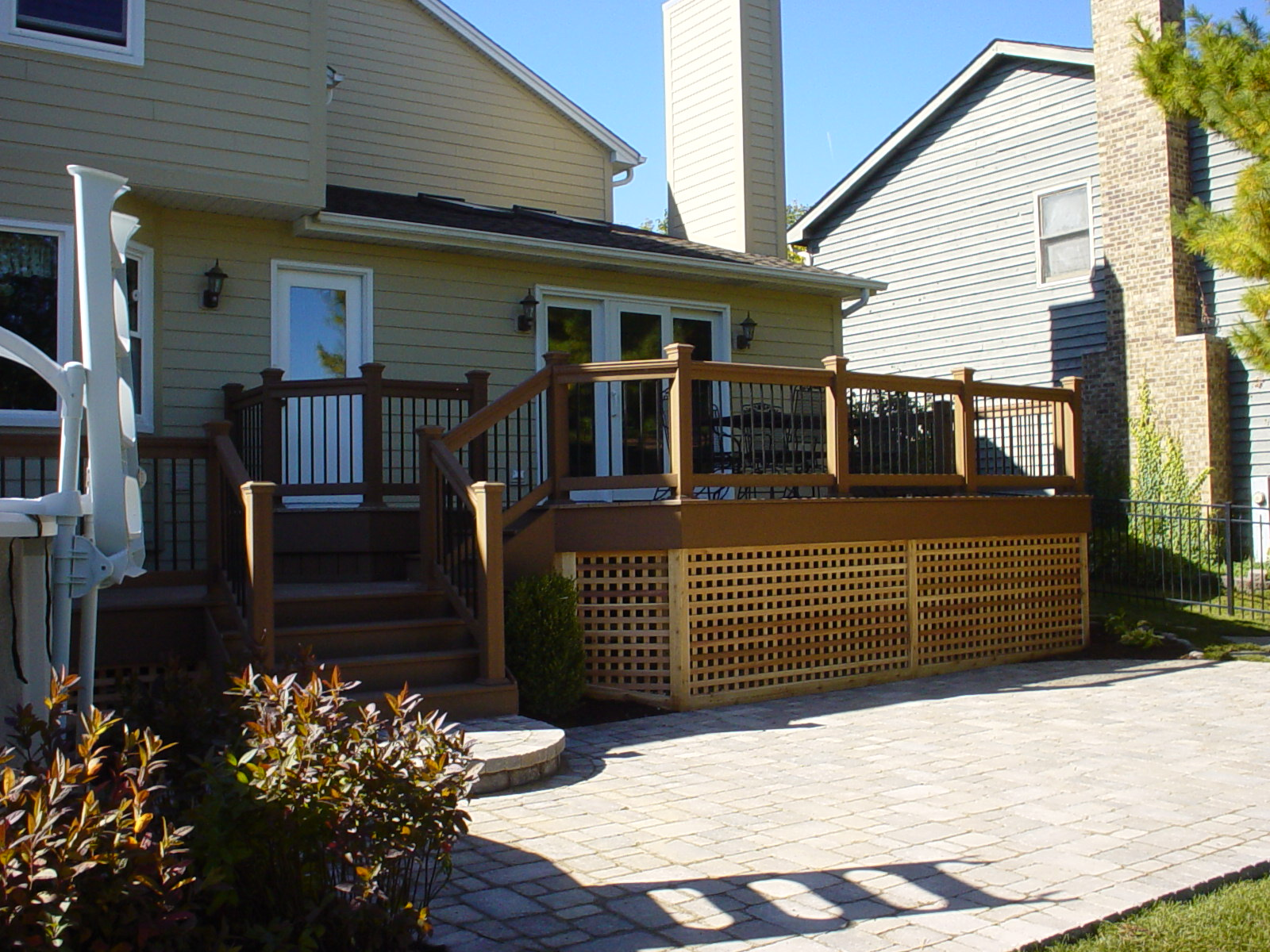 Deck on home exterior
